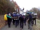 Vezelay 2009 - 2/2 Marche des Scouts d'Europe bretons vers la Maladrerie