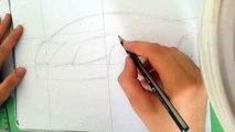 Dessiner une voiture- How to draw - lamborghini
