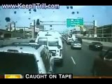 Bus Driver Slams into Stopped Cars while TEXTING!   www.KEEPITTRILL.com