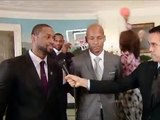 MICHELLE OBAMA : Dunks on On Dwyane Wade & Ray Allen At White House (PHOTOBOMBS) 1/21/14