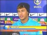 Neymar tem vergonha de falar com o ídolo Ronaldinho gaúcho-Bom Dia Brasil-28/02/2012