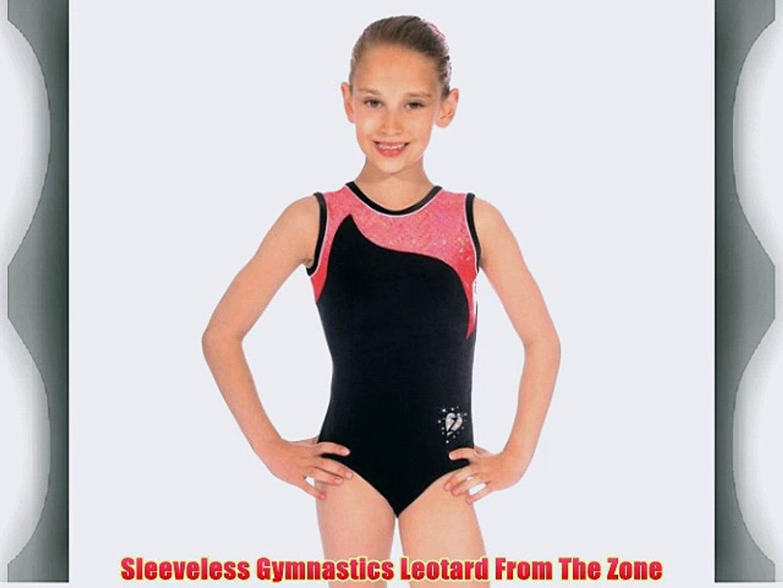Crushed Velour The Zone Z103STE Sleeveless gymnastics leotard