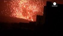 Ataque de la coalición Saudi contra milicias chiíes hutis en Yemén
