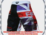 Authentic RDX Fight Shorts UFC MMA Grappling Short Kick Boxing Muay Thai Pants Mens Wear White