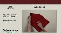 Napkin Folding Tutorial - How to fold a Rose napkin