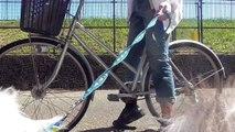 【可愛いシェルティ】愛犬とサイクリング!自転車の乗り方。Cute Sheltie:Dog and cycling! How to ride a bicycle.