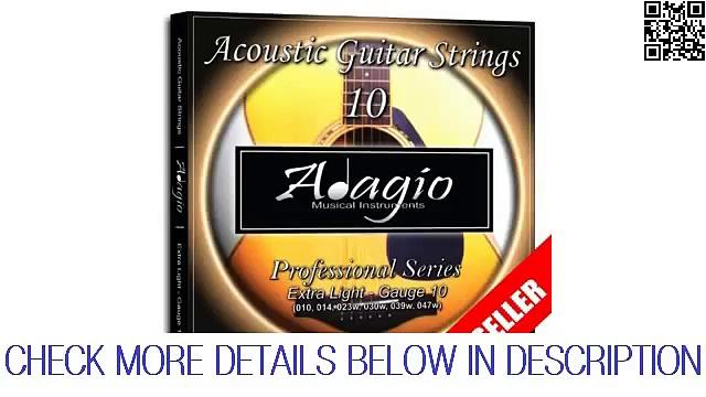 Adagio Professional Acoustic Guitar Strings Set 10-47 Guide