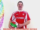 Wales Welsh 'Hakka' Childrens Rugby Shirt -size 5-6y sb