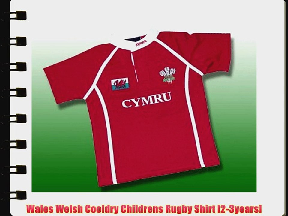 blk 16//18 Wales Welsh Short Sleeve Ladies Rugby Shirt