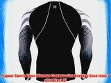 Fixgear Sports Mens Womens Compression Running Base layer T shirt Black Xl