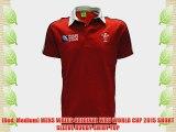 [Red Medium] MENS WALES ORIGINAL WRU WORLD CUP 2015 SHORT SLEEVE RUGBY SHIRT TOP