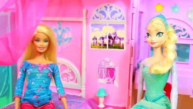 AllToyCollector Frozen Elsa NEW POWERS Barbie Prank Rainbow Hair Makeover Frozen Parody
