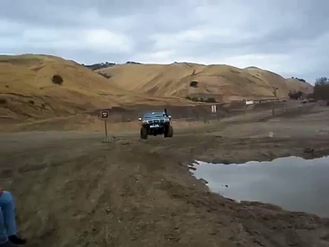 Ford Bronco playing in the Mud pit at Carnegie OHV Park