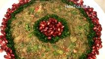 Eggplant Recipe - Eggplant Pomegranate Salad Healthy Recipe (Video)