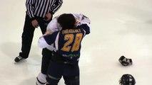 Combat hockey LNAH Joel Theriault VS Gaby Roch (08-03-2014)