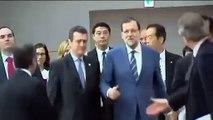 "Rajoy hablando japonés: ""Domo arigato gozaimashita""   Visita a Japón (02/10/2013)"