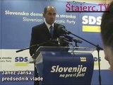 (www.stajerc.tv) Janez Janša Patria Finland SDS Republika Slovenija vlada predsednik vlade SDS Maribor hotel piramida