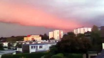 Weird Red  Clouds!!  Morning Glory? Red Sky Phenomenon!! 2012