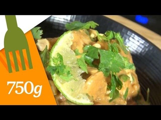 Recette du Poulet au beurre de cacahuètes - 750 Grammes