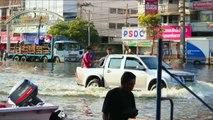 Underground Taming of Floods for Irrigation