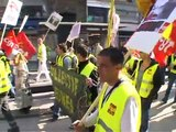 French workers stage mass street protests over crisis