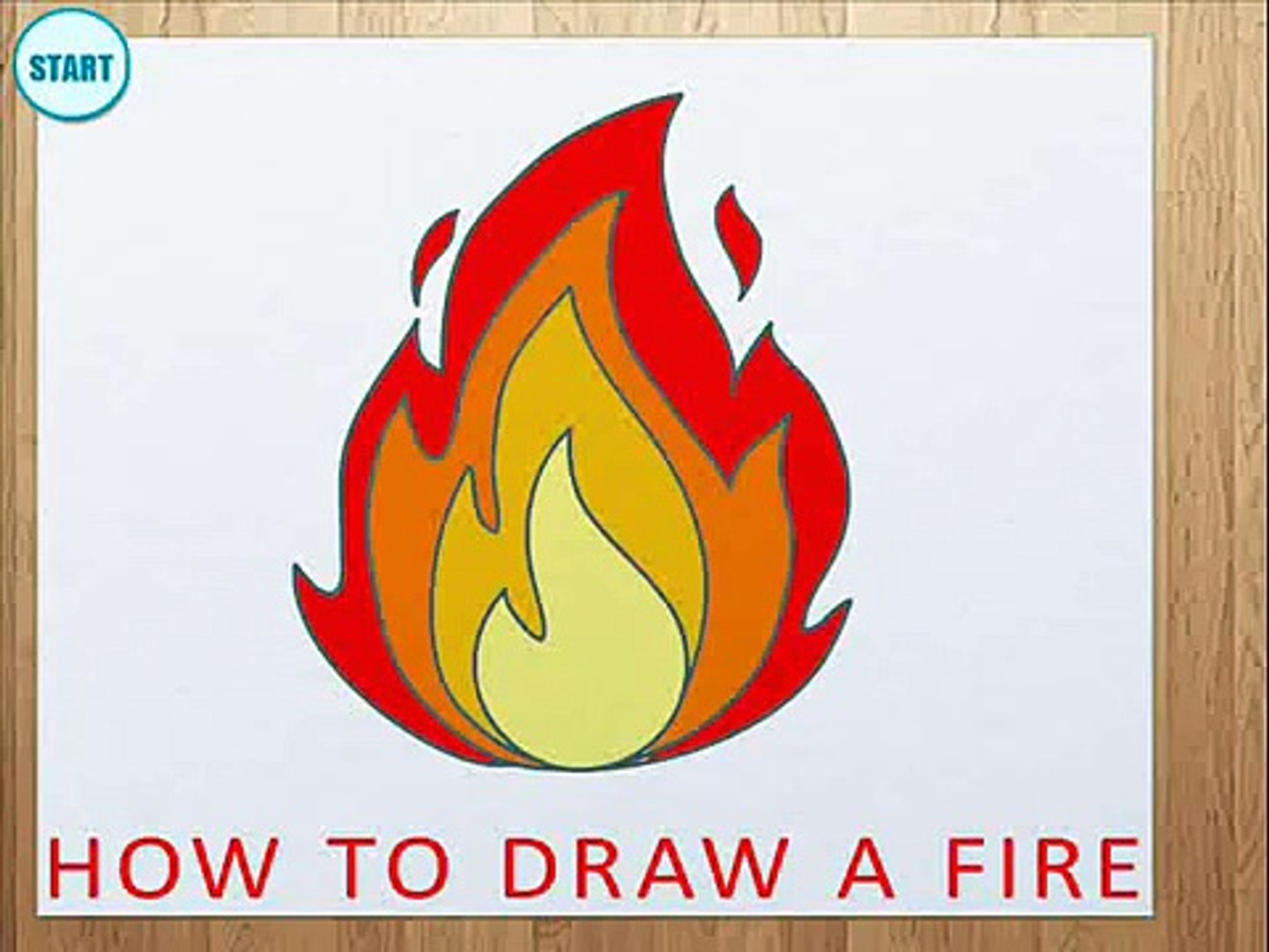 How to Draw a Fire   How to Draw Flame