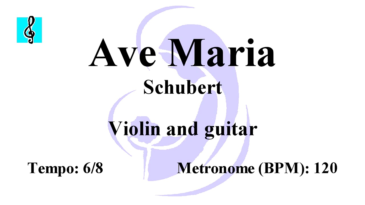 Violin Notes Tutorial – Ave Maria – Schubert (Sheet music – Guitar chords)