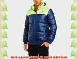 adidas Men's Padded Better Jacket - Collegiate Navy/Neon Green Medium