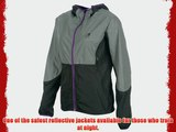 Ladies 360 Reflective Running Jacket Water Resistant Breathable and Quick Drying. Mens Ladies