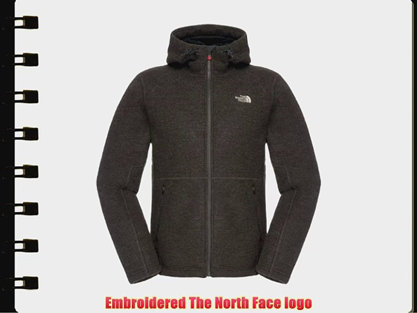 The North Face Zermatt fleece jacket Gentlemen Full Zip Hoodie grey (Size: XXL) fleece jacket