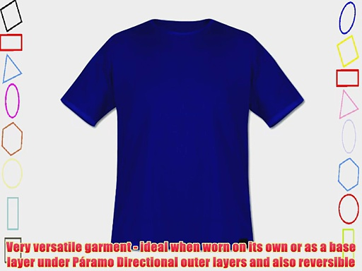P?ramo Men's Cambia Short Sleeved Baselayer T-Shirt – Oxford Blue X-Large