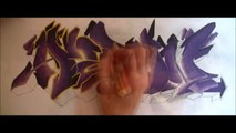 """Graff sur toile """"Aaron"""" // Flow style Graffiti canvas (molotow one4all) [HD 1080]"""