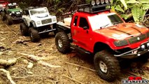 10 Trucks Scaling at Upper Peirce Reservoir - RC4WD Axial Wraith SCX10 Tamiya CC01 scale trucks