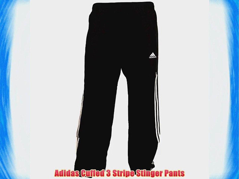 Mens Adidas 3 Stripe Cuffed Stinger Track Bottoms Tracksuit Pants Training M