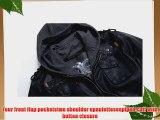 THOOO Men's Cool Zip Up Leather Hooded Biker Jacket Rock Punk Jackets Coat Black M