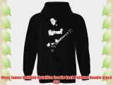 Mens James Hetfield Metallica Iconic Rock Pullover Hoodie Black (XL)
