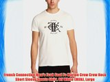 French Connection Men's Fcuk Seal Fc Marlon Crew Crew Neck Short Sleeve Sports Shirt Off White