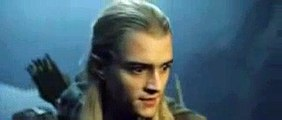Aragorn, Legolas et Gimli dans l'Antre des Morts