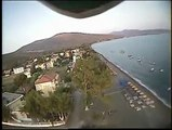 RC HELI FPV: HK-450 (TREX-450 clone) rc helicopter FPV flight over Candia Beach, Argolida.