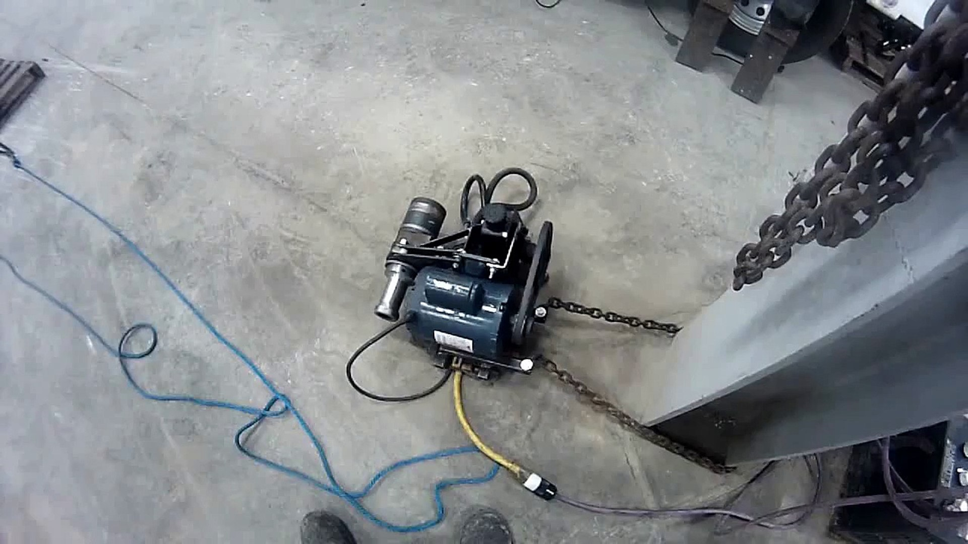homemade capstan winch first test