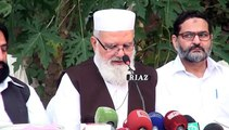 Jamaat e Islami Acting Ameer Liaqat Baloch Press Talk on Dawat e Aftar in Lahore