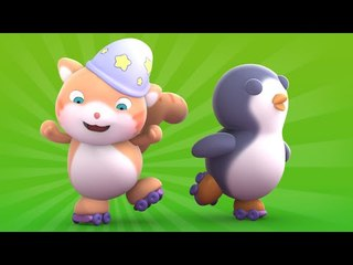 Looi the cat - a roller skating Penguin, for kids