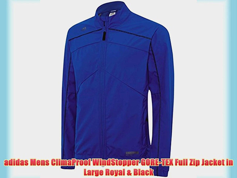 adidas Mens ClimaProof WindStopper GORE TEX Full Zip Jacket