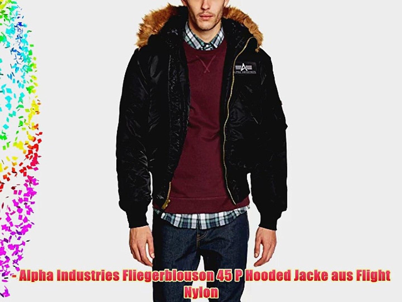 best service eeca1 1c147 Alpha Industries Men's 45 P Hooded Down Long Sleeve Coat Coat Black (Black)  XXX-Largearge (Manufacturer