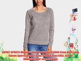 ESPRIT SPORTS Women's Used Look 094ES1J004 Crew Neck Long Sleeve Sports Jumper Grey (Pebble