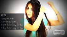 No Heat Kim : Kardashian curls waves heatless cute school hairstyles For Medium long hair tutorial