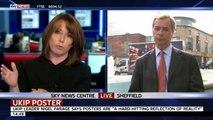 Nigel Farage vs Kay Burley on UKIP 'racism' attacks (22Apr14)