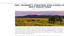 Arizona Volcano Eruption Alert Debunked = Another Disinfo Dutchie False Alarm