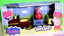 Peppa Pig Pull-Along Wobbily Train Nickelodeon Weebles Wobbly ♥ Il Treno di Nonno Pig