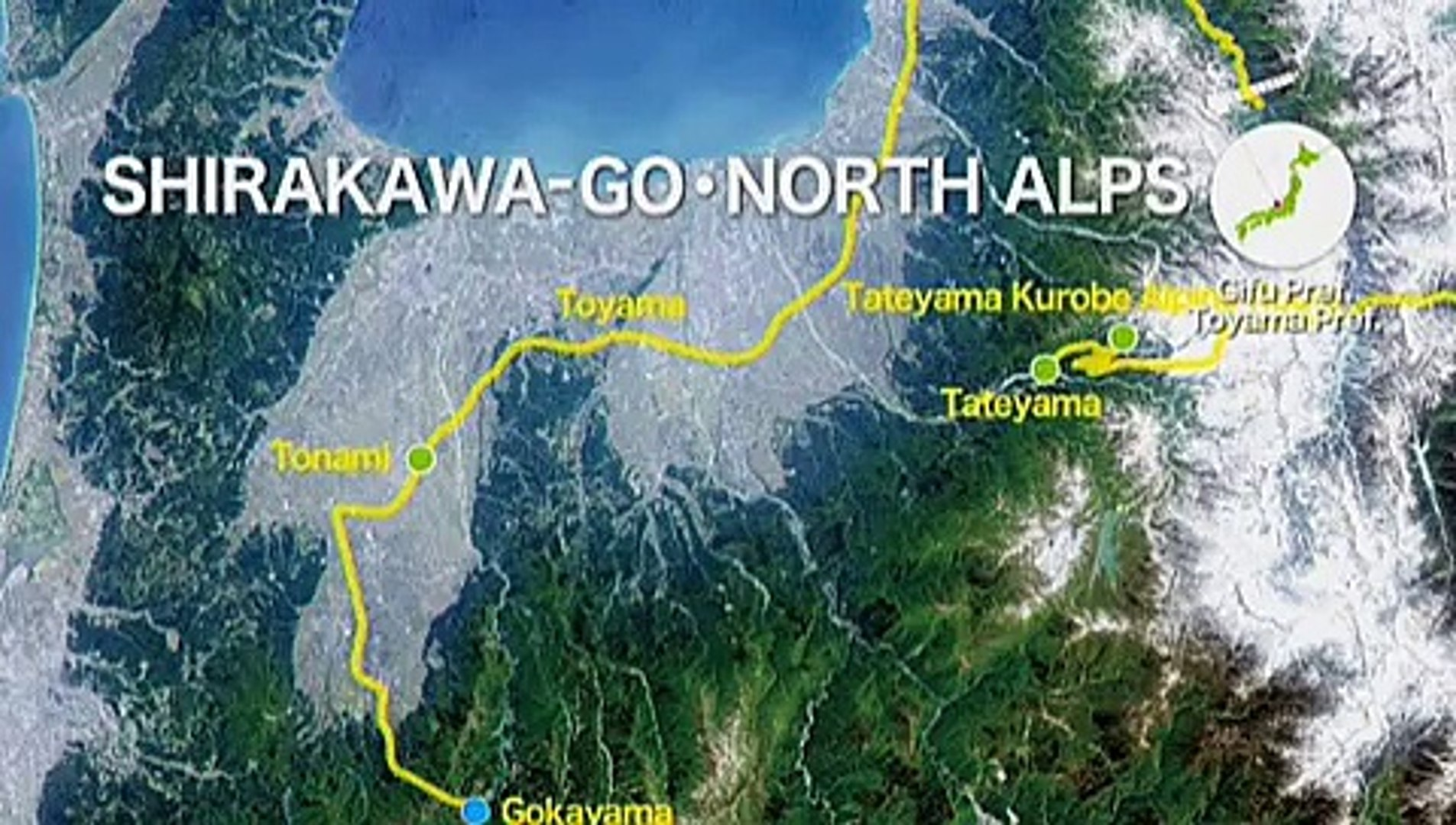 Viewing the beauty of Japan from outer space -Shirakawa-go・North alps-